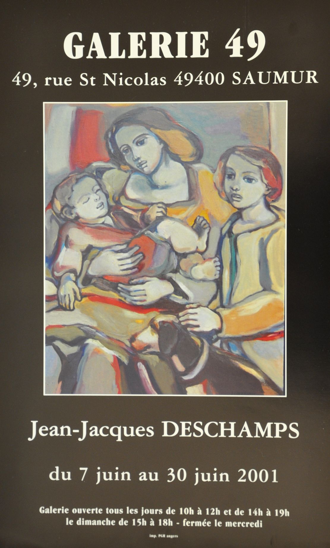 Exposition Jean-Jacques DESCHAMPS 2001 Galerie Toulouse Lauwers